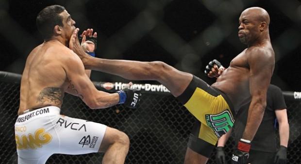 Anderson venceu Belfort com chute cinematográfico. Foto: Divulgação
