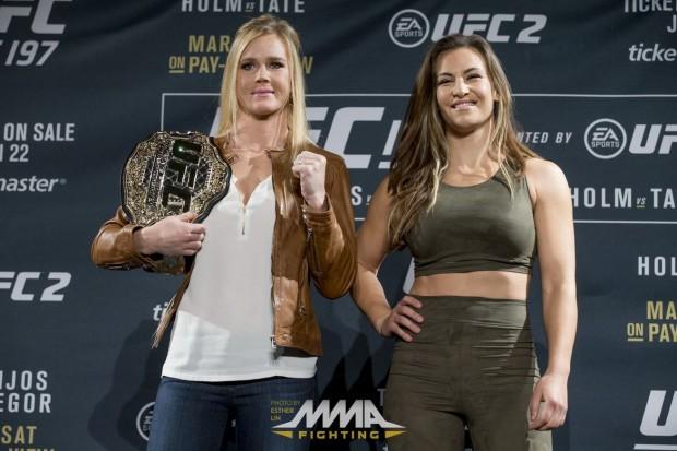 Tate roubou o cinturão de Holm no UFC 196. Foto: Josh Hedges/UFC