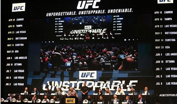 Coletiva de imprensa será o primeiro evento oficial do UFC 198. Foto: Divulgação/UFC