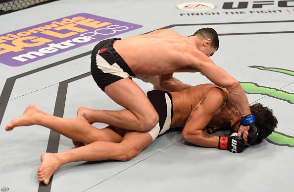 E. Silva foi nocauteado por Taleb no UFC 196. Foto: Josh Hedges/Zuffa LLC