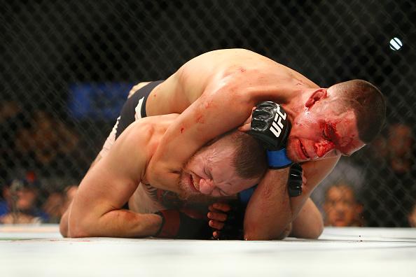 Diaz finalizou McGregor no segundo round. Foto: Divulgação