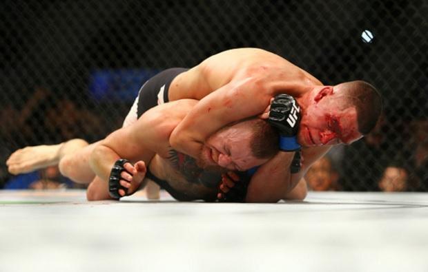 Diaz venceu McGregor na primeira luta entre eles. Foto: Jeff Bottari/UFC