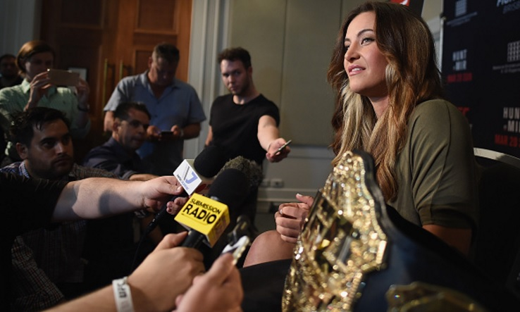 Miesha foi convidada do UFC Brisbane. Foto: Matt Roberts/UFC