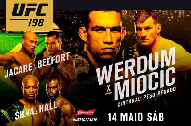 UFC 198 acontece no dia 14 de maio. Foto: Divulgação