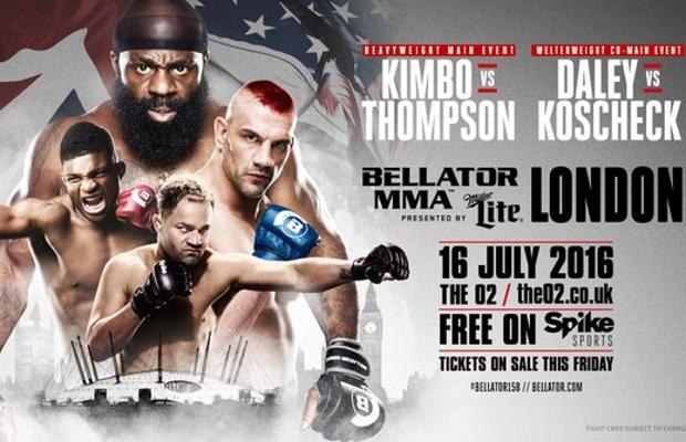 Bellator chega a Londres em julho. Foto: Reprodução