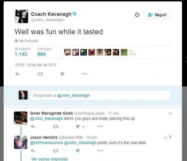 Kavanagh, técnico de McGregor, também deu indícios da aposentadoria