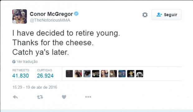 McGregor-aposentado