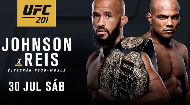 Johnson x Reis será o co-main event do UFC 201. Foto: Reprodução