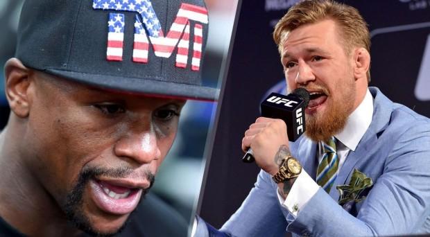 Mayweather (esq.) e Conor (dir.) fariam luta bilionária. Foto: Reprodução