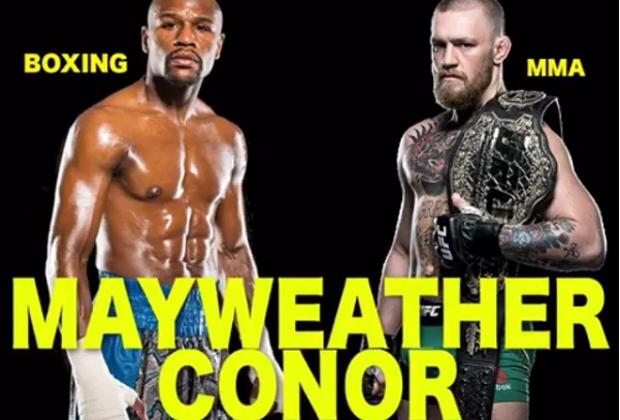 Floyd (esq.) e McGregor (dir.) sairá do papel?. Foto: Reprodução