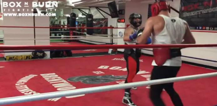 McGregor fez treino de boxe na Califórnia. Foto: Reprodução