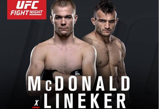Lineker e McDonald será a luta co-principal da noite. Foto: Reprodução