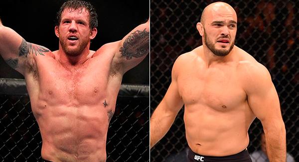 Bader (esq.) e Latifi (dir.) duelam na Alemanha. Foto: Produção Super Lutas (UFC/Divulgação)