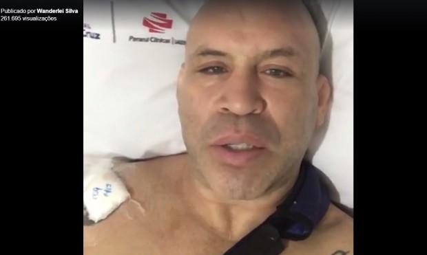 Wand (foto) publicou video ao vivo direto do hospital. Foto: Reprodução