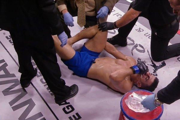 D. Dragon sofreu a lesão na perna parecida com a sofrida por Anderson Silva