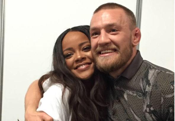 McGregor tintou Rihanna em show na Irlanda. Foto: Reprodução