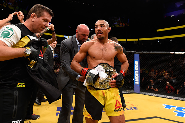 Aldo conquistou o cinturão interino dos penas do UFC. Foto: Josh Hedges/Zuffa LLC