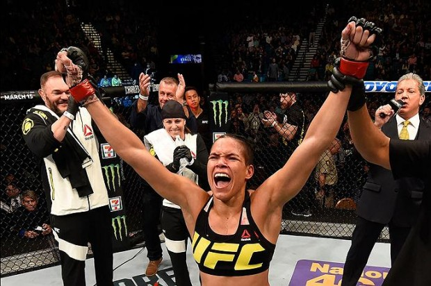 Amanda é campeã do UFC. Foto: Divulgação/UFC