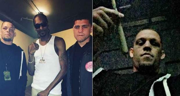Irmãos Diaz marcaram presença em show do rapper Snoop Doog. (Foto: Reprodução/ Redes Sociais).