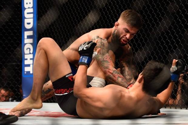 Garbrandt atropelou Mizugaki em poucos segundos. Foto: Divulgação/UFC