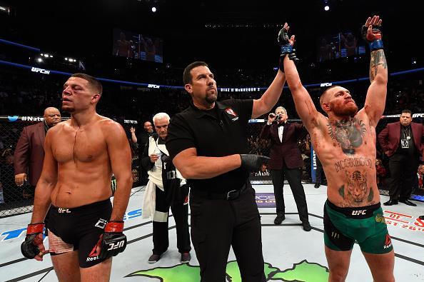 McGregor e Diaz travaram duelo épico em Las Vegas (EUA). Foto: Divulgação/UFC