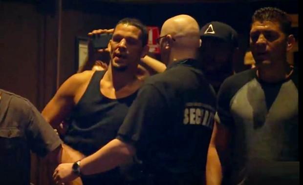 N. Diaz durante confusão pré-UFC 202 (Foto: Reprodução)