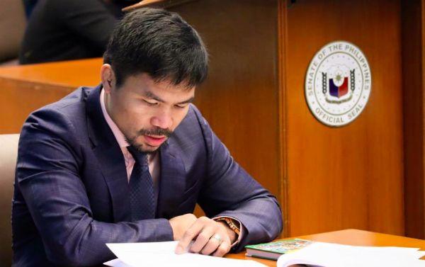 Pacquiao também atua como senador nas Filipinas. Foto: Reprodução/Facebook