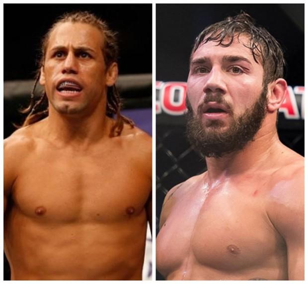 Faber (dir) e Rivera (esq) fazem um duelo de gerações. Foto: Produção SUPER LUTAS (Divulgação/UFC)