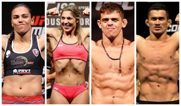 J. Andrade, B. Correia, C. Monstro e F. Bodão são, ao lado de Werdum, os representantes brasileiros no card. Foto: Produção SUPER LUTAS (Divulgação/UFC)