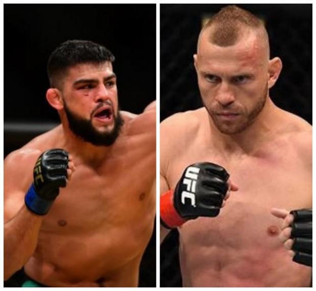 K. Gastelum (esq) enfrenta D. Cerrone (dir) no UFC 205. (Foto: Produção SUPER LUTAS - Divulgação/UFC)