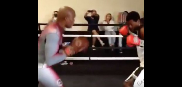 Anderson e seu filho Gabriel treinaram boxe juntos. Foto: Reprodução