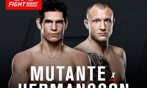 Mutante pega Hermansson no UFC SP. Foto: Divulgação/UFC