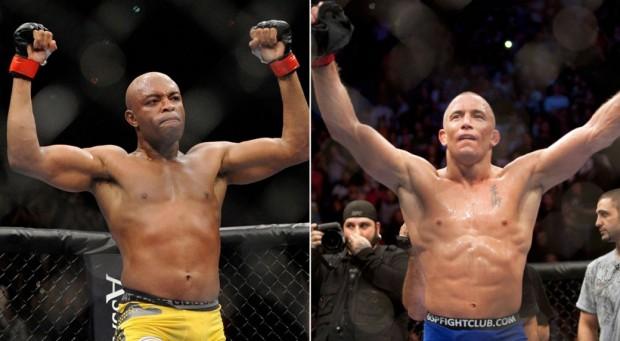 Anderson e St. Pierre são dois dos maiores campeões do UFC. Foto: Divulgação/UFC