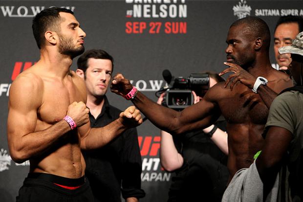 Mousasi e Hall fazem revanche na Irlanda do Norte. Foto: Divulgação/UFC