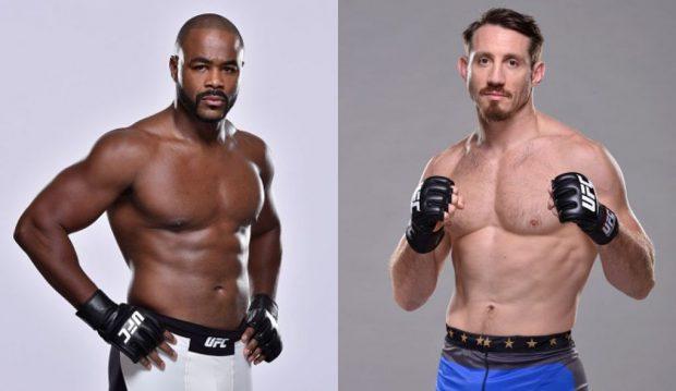 Duelo entre R. Evans (esq) e T. Kennedy (dir) ganhou nova data. (Foto: Produção SUPER LUTAS (Divulgação/UFC)