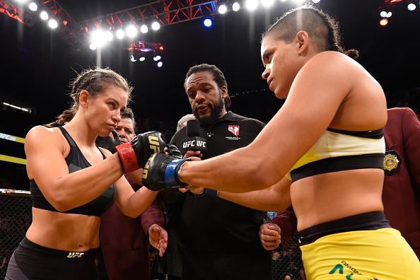 Tate (esq) aposta em Nunes (dir) contra Ronda (Foto: Getty Images)
