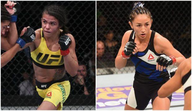 Gadelha (esq) e Esparza (dir) trocaram farpas nas redes sociais. (Foto: Produção SUPER LUTAS (Divulgação/UFC)