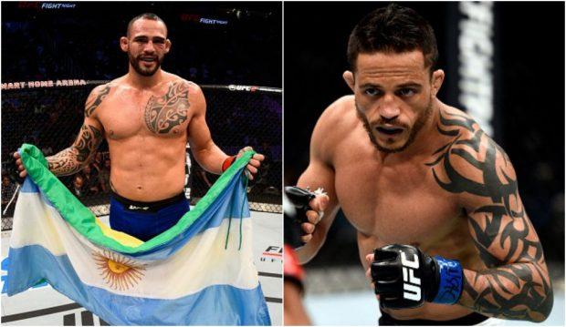 Santiago (esq) e Reginaldo (dir) estarão em ação dia 19 de fevereiro. (Foto: Produção SUPER LUTAS / Getty Images)