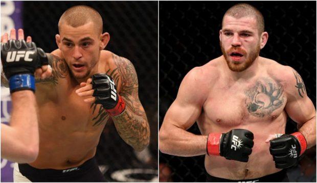 Poirier (esq) e Miller (dir) vão se enfrentar no UFC 208, em fevereiro. (Foto: Produção SUPER LUTAS / Getty Images)