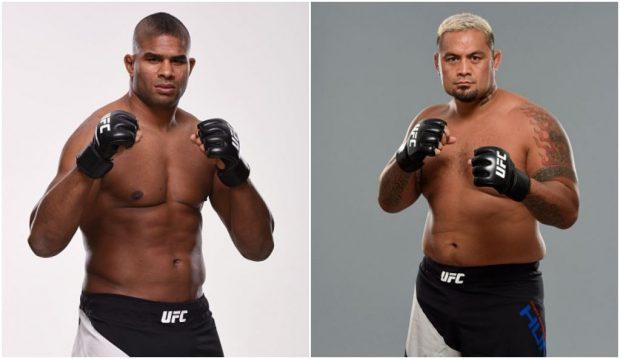 Overeem (esq) e Hunt (dir) vão medir forças no UFC 209, em Las Vegas. (Foto: Produção SUPER LUTAS / Getty Images)
