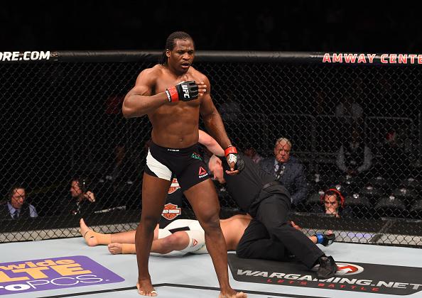 Ngannou enfrenta A. Hamilton na segunda luta mais importante da noite. (Foto: Getty Images)