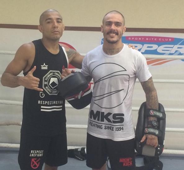 Emerson Falcão treina José Aldo na Nova União (FOTO: Facebook José Aldo)