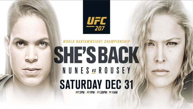 Pôster oficial do UFC 207. (Foto: Divulgação)