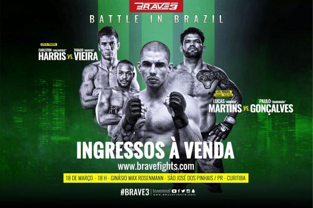Terceira edição do Brave acontecerá em Curitiba, dia 18 de março. (Foto: Divulgação)