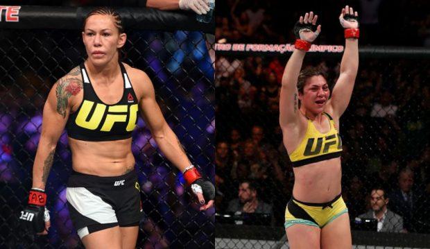 Cyborg (esq) e Bethe (dir) discutiram na internet (Foto: UFC/Produção: SUPER LUTAS)