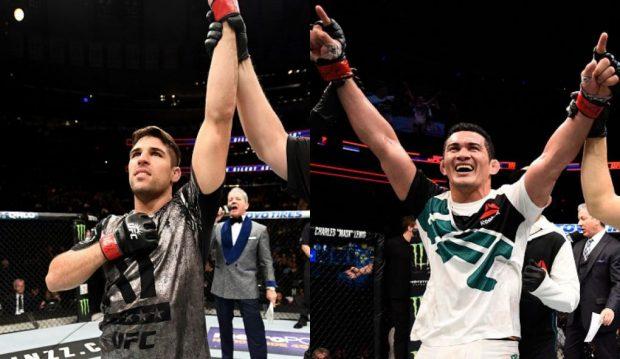 Luque (esq) e Bodão (dir) estarão no card preliminar.(Foto: UFC/Produção: SUPER LUTAS)