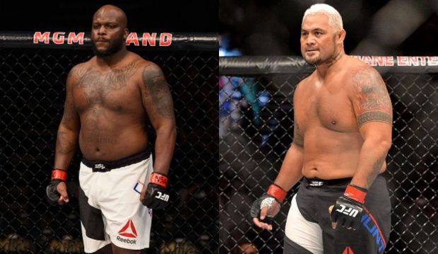 Lewis (esq) e Hunt (dir) vão se enfrentar em junho. (Foto: UFC/Produção: SUPER LUTAS)