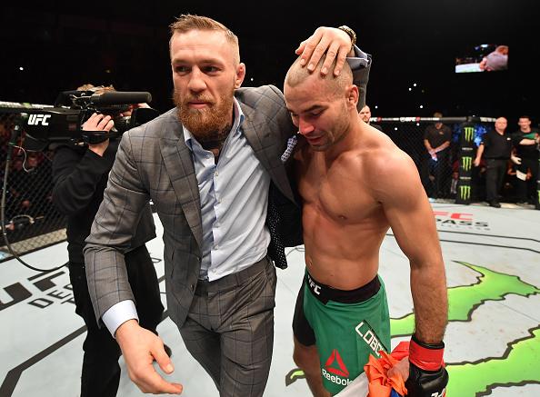 Lobov (dir) é amigo pessoal de Conor (esq). (Foto: Brandon Magnus/UFC)