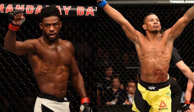 Sterling (esq) quer enfrentar Marajó (dir) em julho. ( Fotos: UFC/Montagem: Super Lutas)