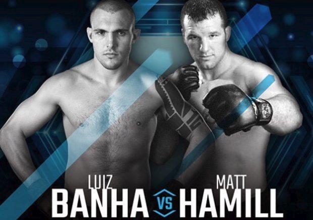 Banha (esq) e Hamill (dir) se enfrentam na luta principal. (Foto:Divulgação)